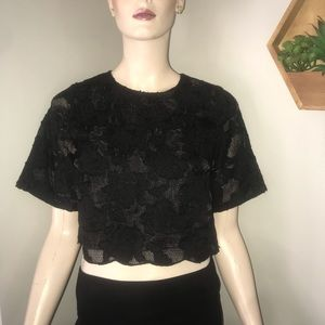 Forever 21 lace crop top Size Small